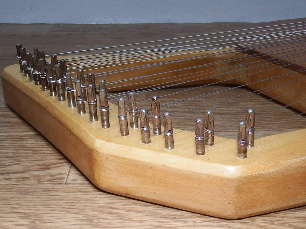 CHOROI コロイ小型ソプラノライアーE130 27弦 たて琴 竪琴 ミニハープ 最後の1台_画像9