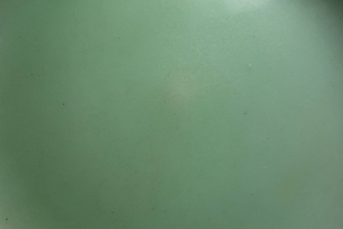 清朝末期(中華民国初期) 青磁 宋朝官窯茶豆皿写し 一枚