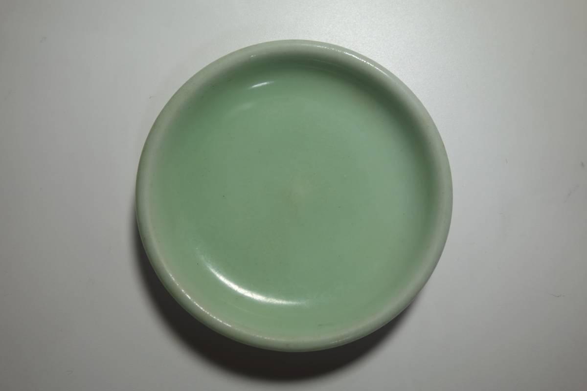清朝末期(中華民国初期) 青磁 宋朝官窯茶豆皿写し 一枚_画像5