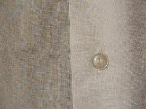 ssy592 SWAN メンズ 半袖 ワイシャツ ホワイト ■ 無地 ■ 胸ポケット 綿混素材 薄手 透け感 オフィス ビジネス Mサイズ_画像4