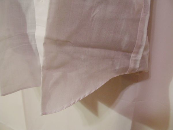 ssy592 SWAN メンズ 半袖 ワイシャツ ホワイト ■ 無地 ■ 胸ポケット 綿混素材 薄手 透け感 オフィス ビジネス Mサイズ_画像6