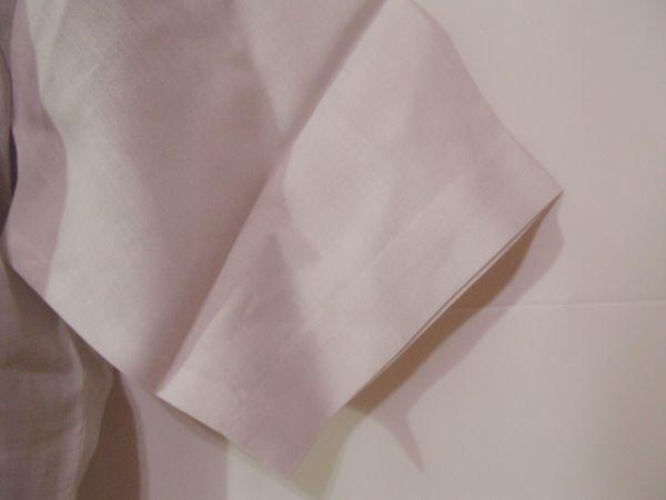 ssy592 SWAN メンズ 半袖 ワイシャツ ホワイト ■ 無地 ■ 胸ポケット 綿混素材 薄手 透け感 オフィス ビジネス Mサイズ_画像5