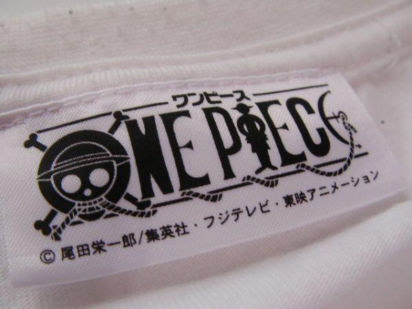 ssy240 半袖 Tシャツ ホワイト ■ キャラクタープリント ■ ONE PIECE ■ ワンピース クルーネック 丸首 綿混素材_画像8