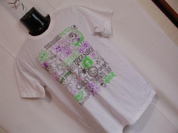 ssy240 半袖 Tシャツ ホワイト ■ キャラクタープリント ■ ONE PIECE ■ ワンピース クルーネック 丸首 綿混素材_画像1