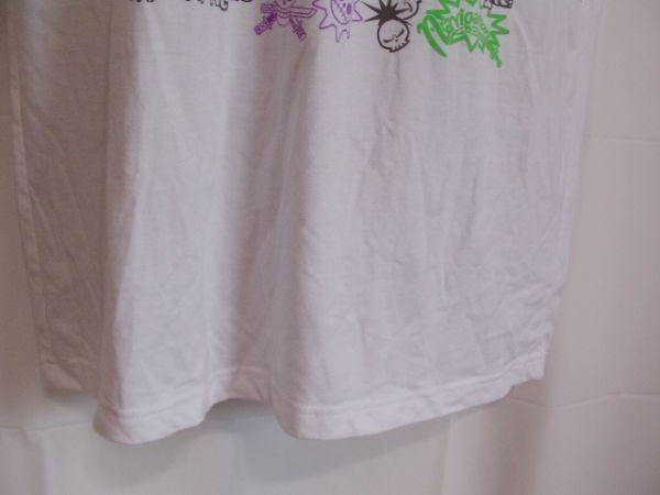 ssy240 半袖 Tシャツ ホワイト ■ キャラクタープリント ■ ONE PIECE ■ ワンピース クルーネック 丸首 綿混素材_画像5