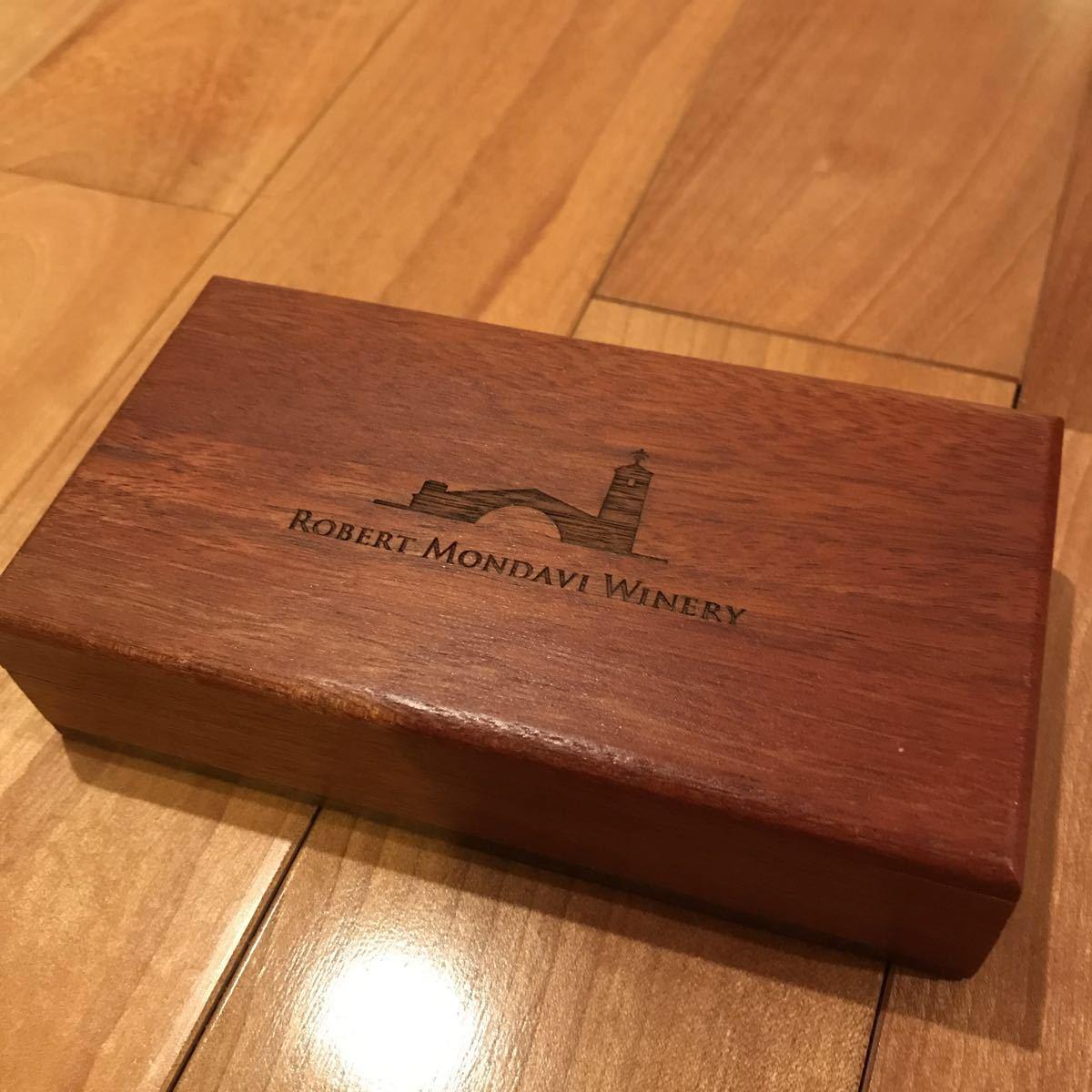 ###激レア ナパバレー Robert  Mondavi  ロバートモンダビ ワインオープナー 専用木箱入り ボディー木製 高級 かっつこいい### _画像2