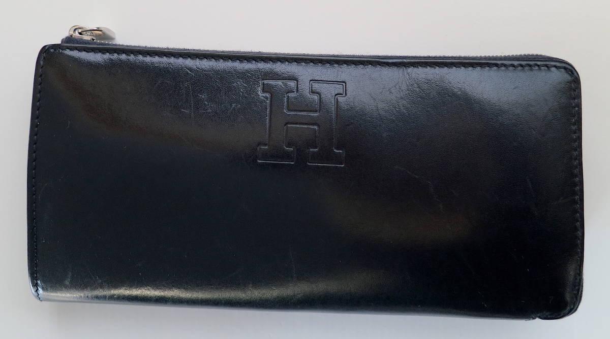 514e475f6673 代購代標第一品牌- 樂淘letao - 美品HIROFU ヒロフファスナー開閉超ロングセラー型長財布ダークネイビー天然皮革