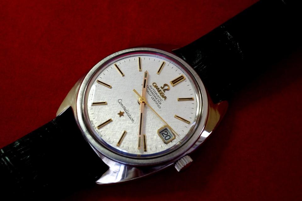 送料無料! OH済 オメガ コンステレーション cal.564 OMEGA Constellation 自動巻き 1970年 アンティーク メンズ腕時計 オーバーホール済