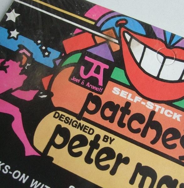 当時物 VINTAGE ピーターマックス Peter Max 刺繍 ワッペン Patches 未開封品 ビンテージ POP サイケデリック 米国製 _画像5