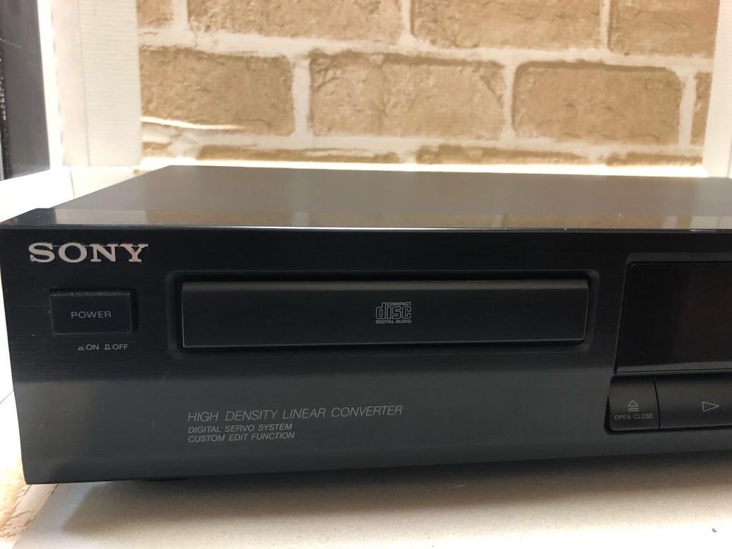 SONY/ソニー COMPACT DISC PLAYER CDP-261 CDプレイヤー 現状中古品 ジャンク扱い(A414)_画像4