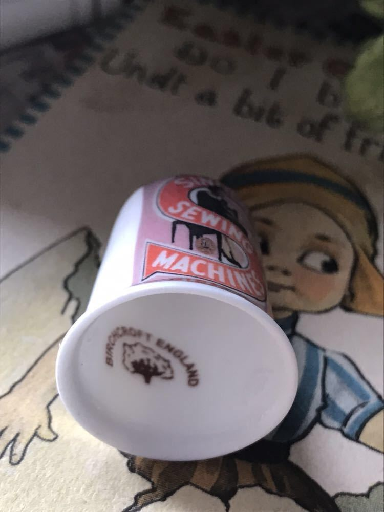 新品◆英国バーチクロフト社製シンブル指貫18k◆シンガーミシン ビンテージ ロゴ c._画像4