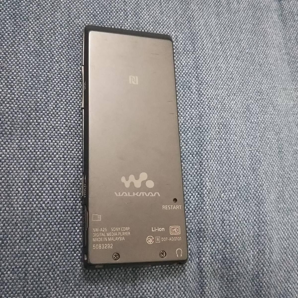 ウォークマン NW-A26 32GB SONY WALKMAN HN ブラック 難あり ジャンク扱い 返品不可_画像2
