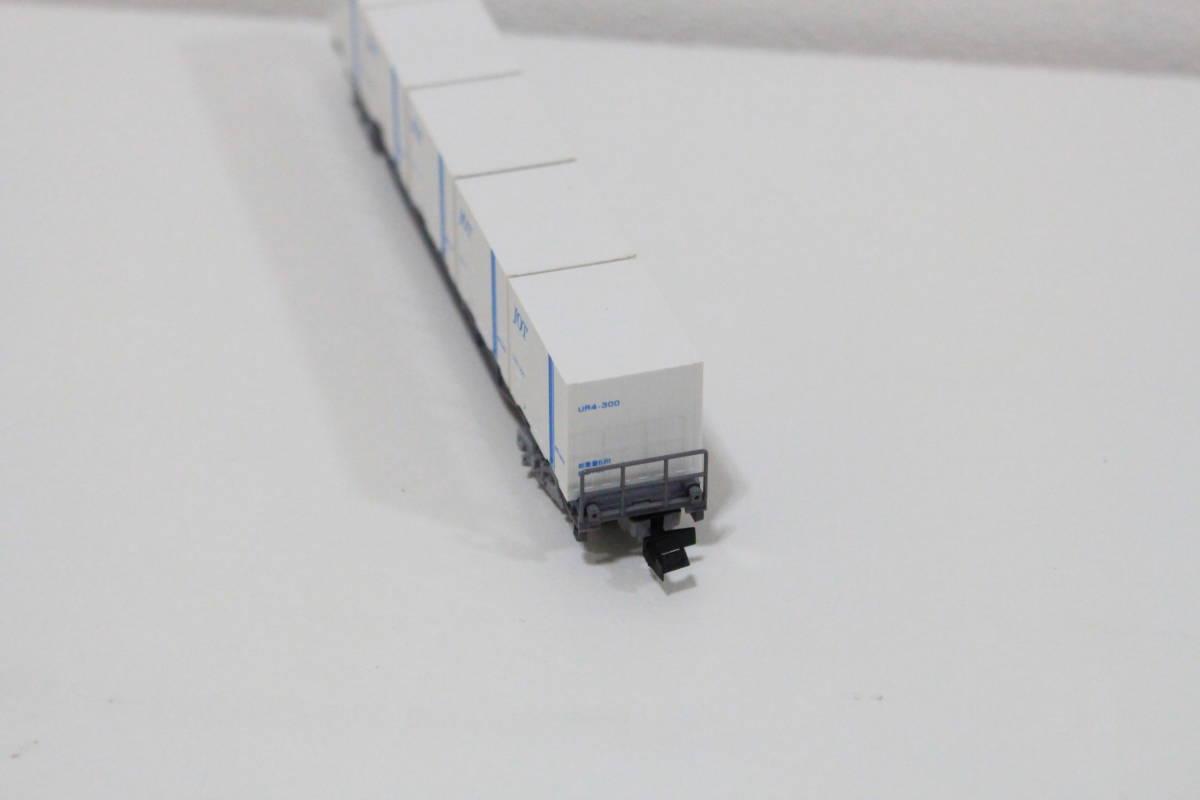 中古 Nゲージ TOMIX 8703 JR貨車 コキ106形 朗堂 C-6403 UR4 JOT コンテナ付き_画像4