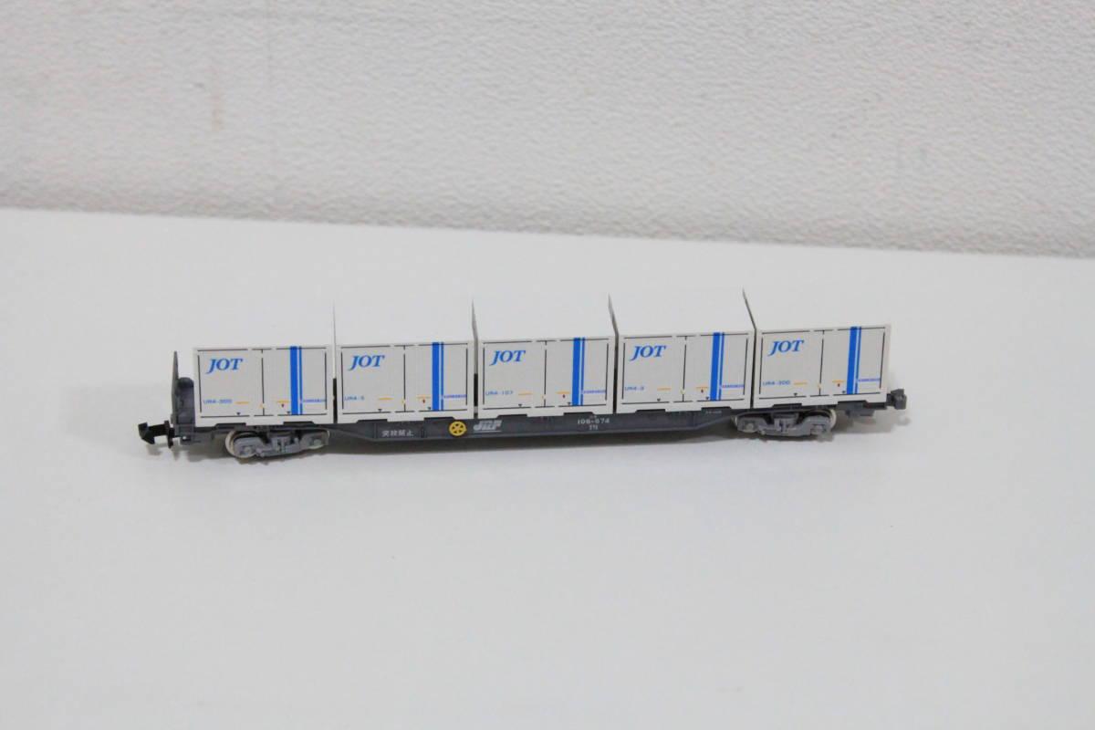 中古 Nゲージ TOMIX 8703 JR貨車 コキ106形 朗堂 C-6403 UR4 JOT コンテナ付き_画像3