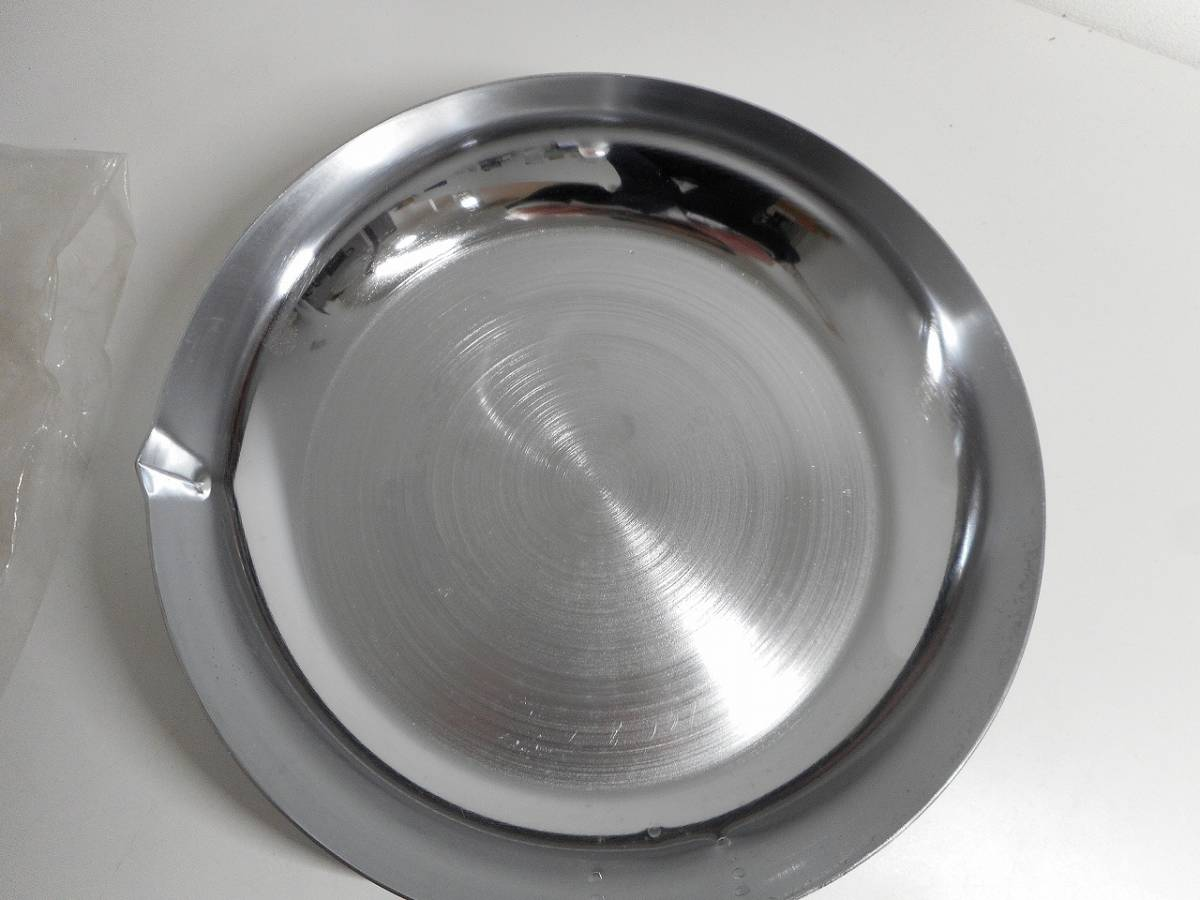 未使用 経年品 KAKUSEE/カクセー ナショナルモールトン成型 鉄三重メッキ製 フライパン 26cm_画像3