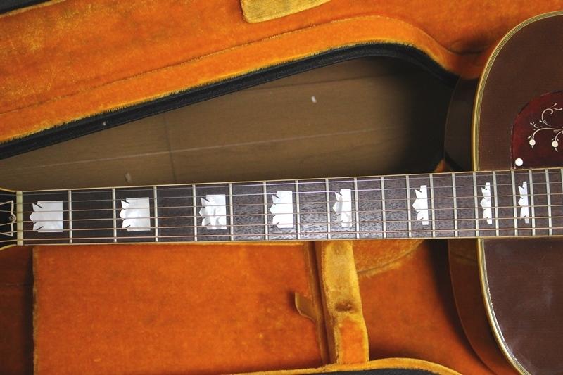 激レア Gibson 1969年製 J-200 アイスティーバースト ギブソン J200 オリジナルハードケース付き_画像9