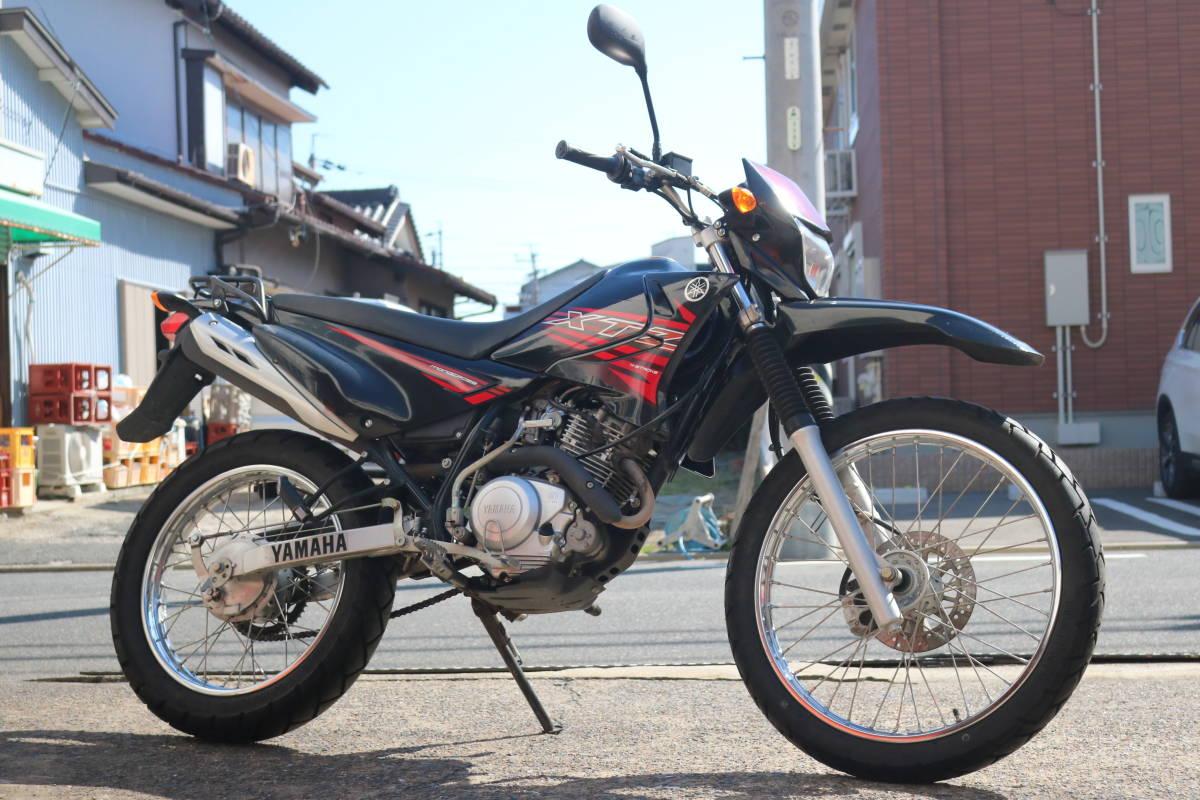 格安スタート!ヤマハ XTZ125 リアキャリア付き タイヤ前後9部山 人気の原付き登録125cc!