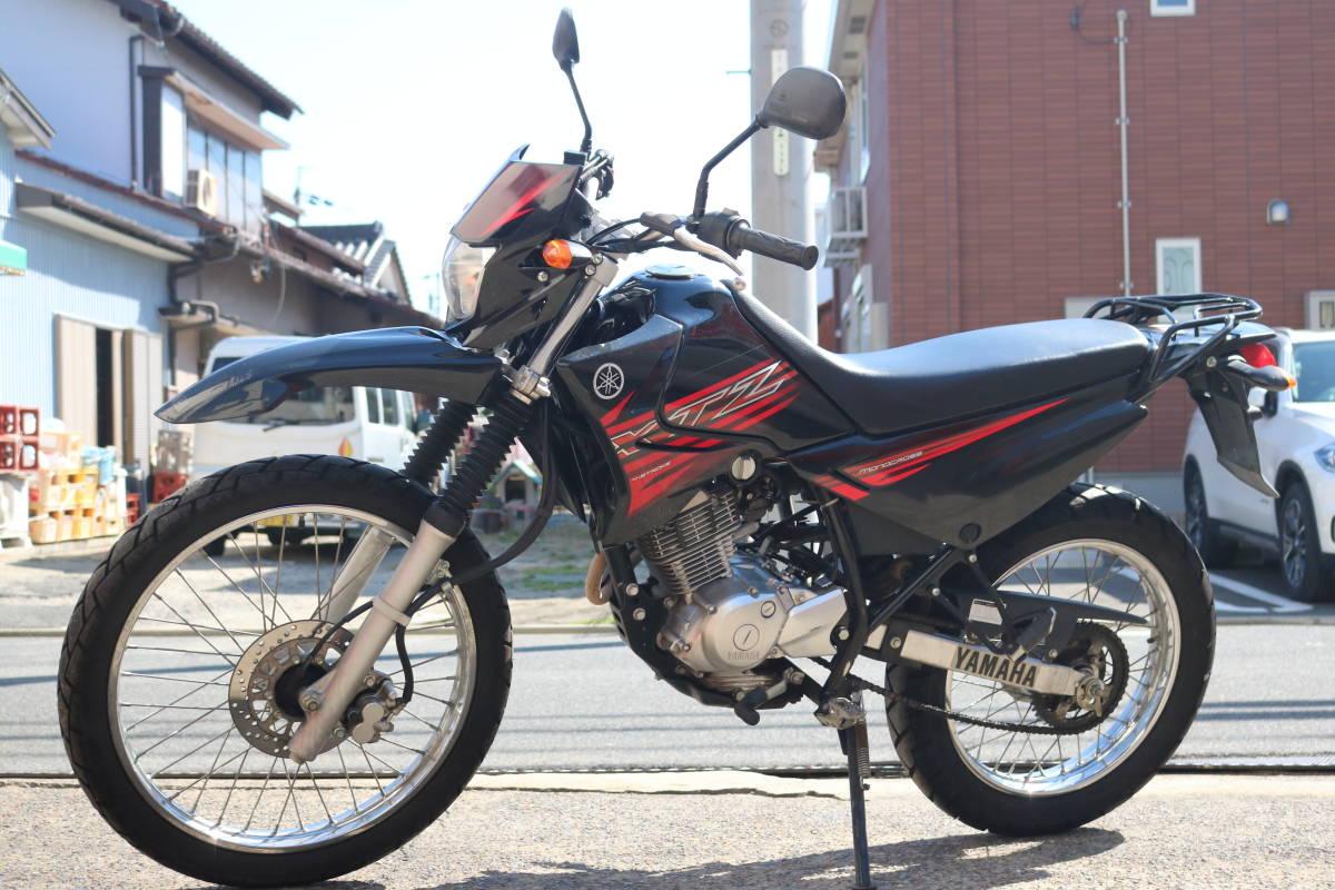 格安スタート!ヤマハ XTZ125 リアキャリア付き タイヤ前後9部山 人気の原付き登録125cc!_画像2