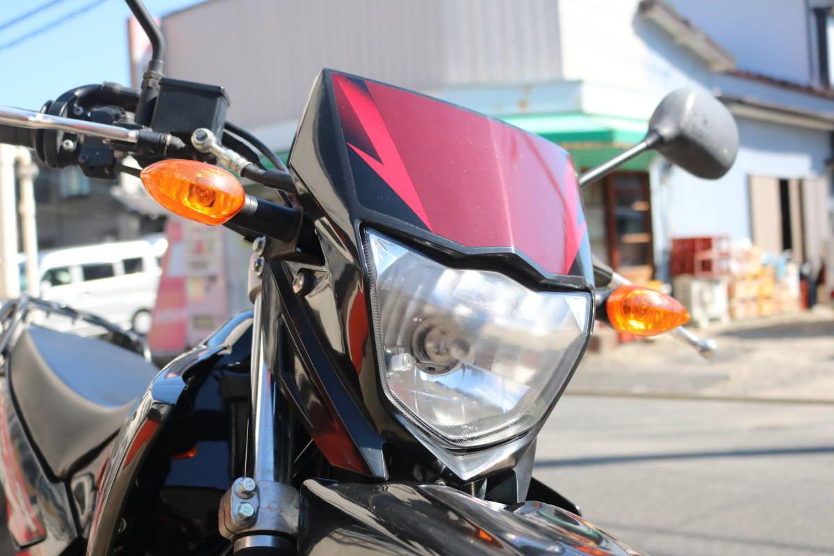 格安スタート!ヤマハ XTZ125 リアキャリア付き タイヤ前後9部山 人気の原付き登録125cc!_画像3