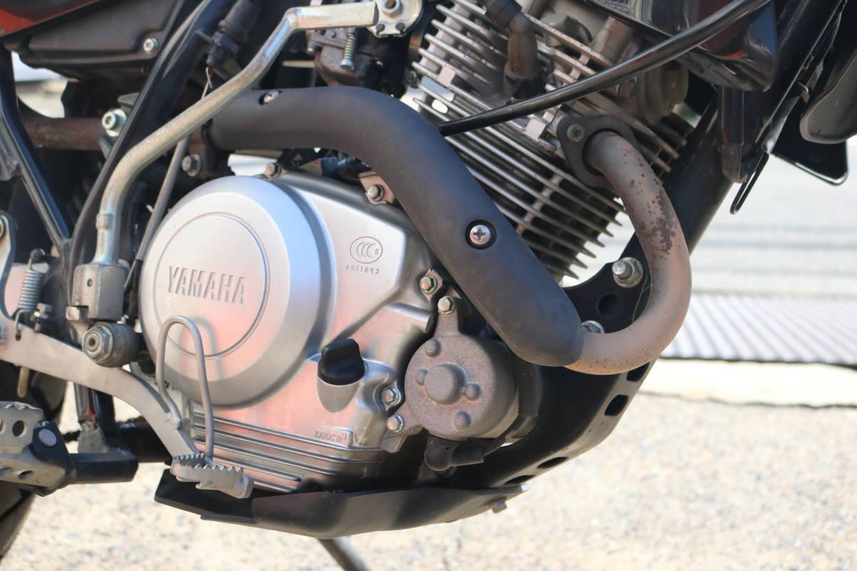 格安スタート!ヤマハ XTZ125 リアキャリア付き タイヤ前後9部山 人気の原付き登録125cc!_画像5
