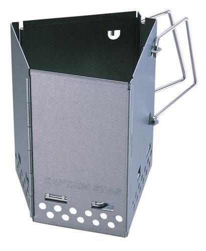 【送料無料】キャプテンスタッグ バーベキュー用 折りたたみ 火おこし器 炭焼き名人 M-6638 幅18.5×奥行19×高さ20.5cm