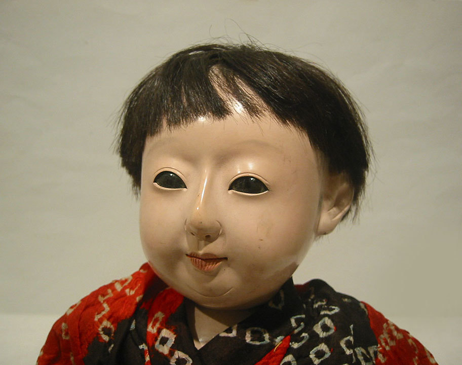 ◆紫野◆ 市松人形 「松乾齋」 50cm 明治時代 泣き人形 抱き人形 雛人形