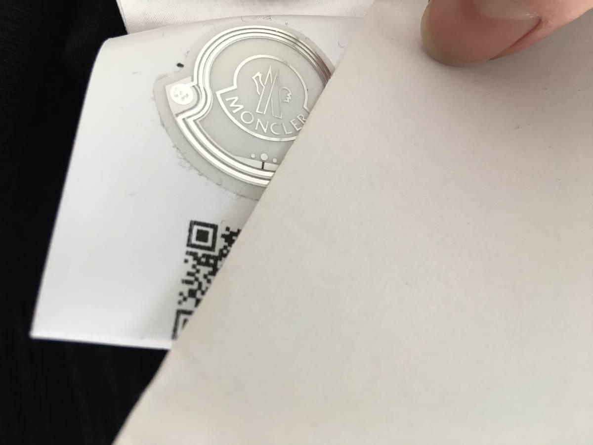 新品 本物 モンクレール ウール シルク プリーツ ドッキング ニット S 黒 ブラック MONCLER ニット セーター 異素材 トップス カットソー_画像10