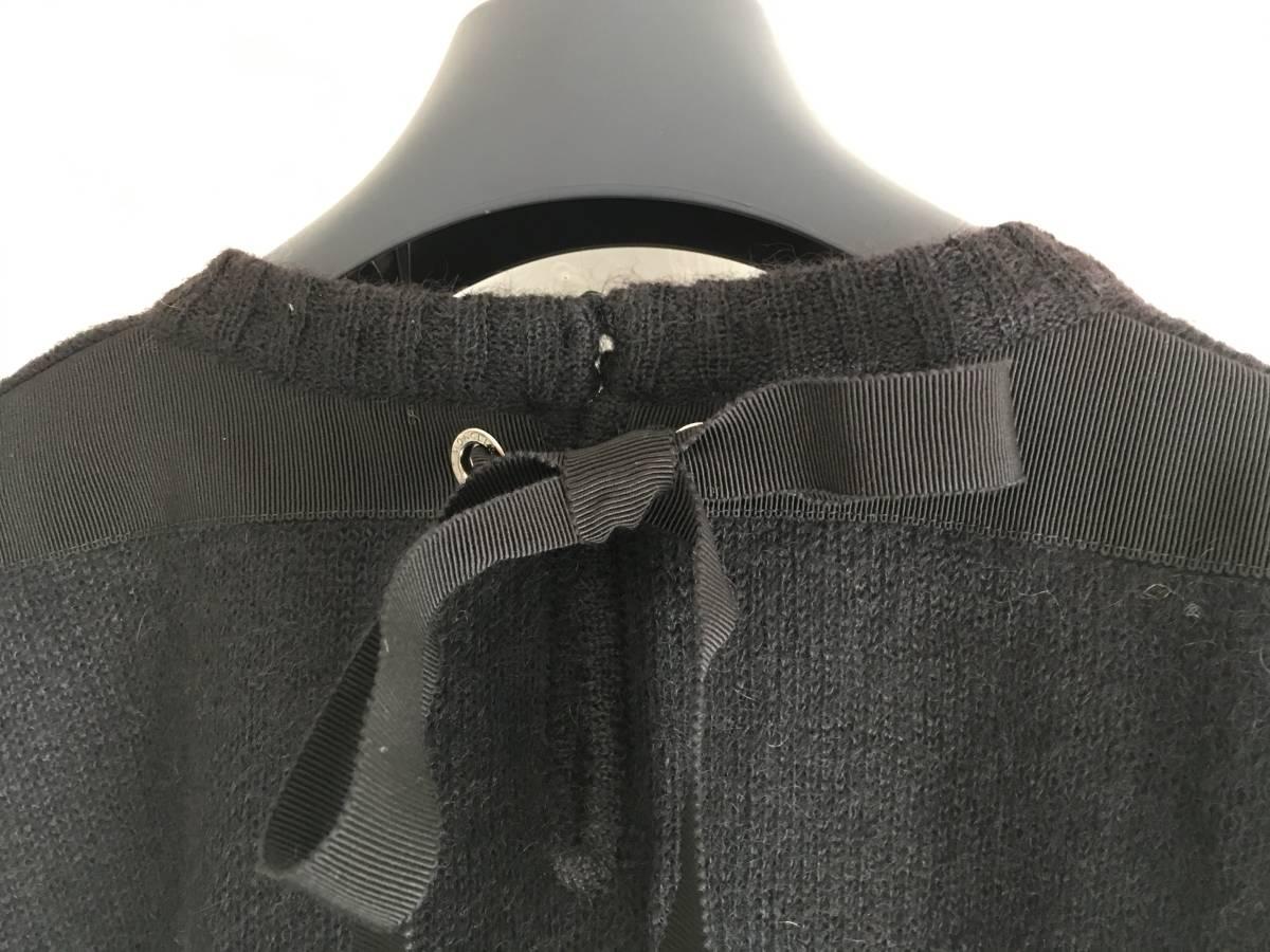 新品 本物 モンクレール モヘア リボン ニット S 黒 ブラック MONCLER ニット セーター トップス カットソー ウール_画像4