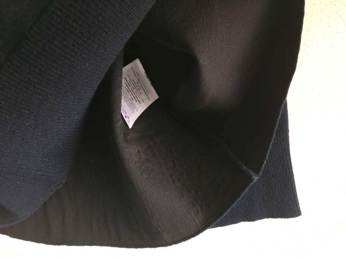 新品 本物 モンクレール ヴァージン ウール ハイネック ニット M ネイビー 紺 ブルー MONCLER セーター トップス ロゴ ワッペン 裏付き_画像7