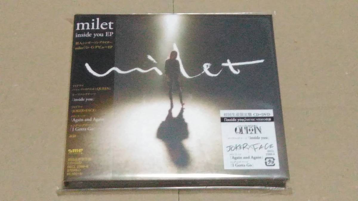 milet ミレイ inside you EP 初回生産限定盤 CD+DVD