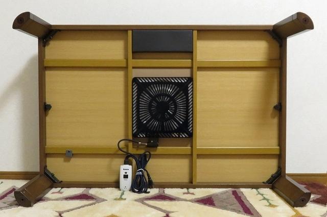 送料無料 オフシーズン特価 家具調こたつ 120x80 木目 手元コントローラ式_画像6