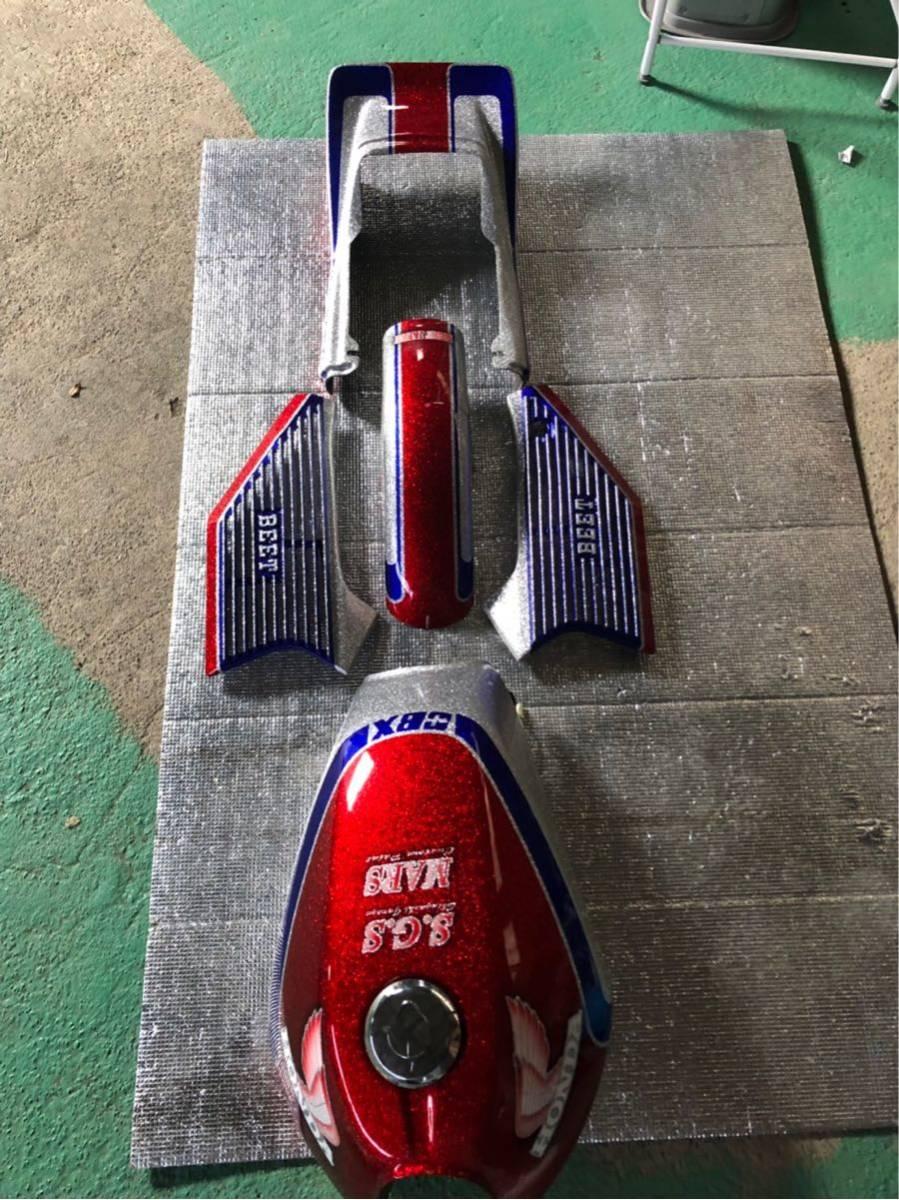 cbx cbr 族車 旧車 外装 タンク ラメラメ_画像7