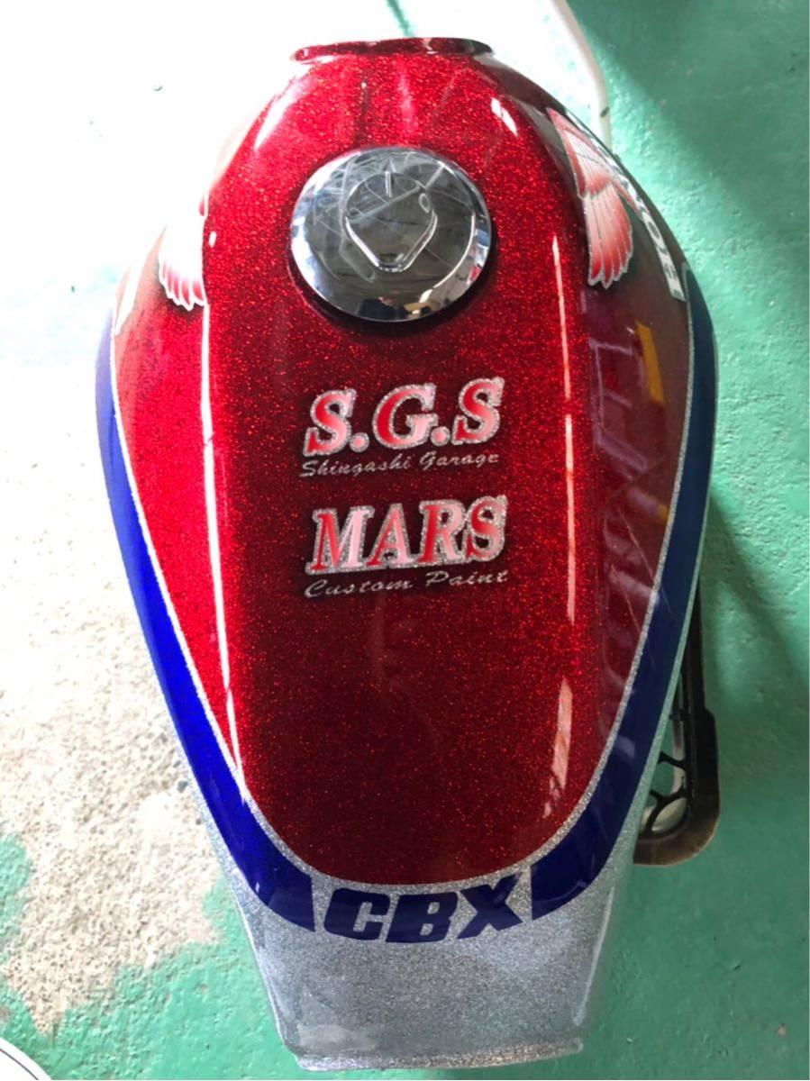 cbx cbr 族車 旧車 外装 タンク ラメラメ_画像2