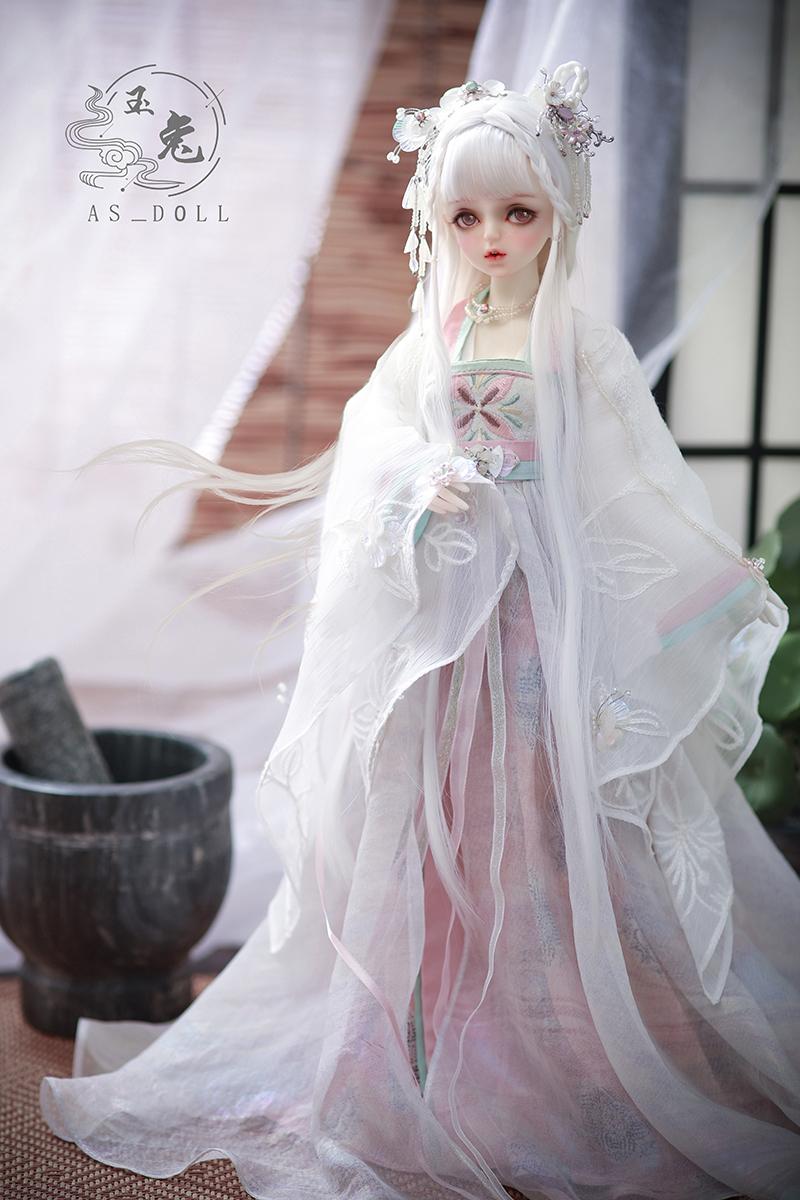 【AngellStudio様製】CL4180731 球体関節人形ドール BJDドール ASDOLL AS1/4女の子 中華衣装/「山海経」玉兎/羽_画像1