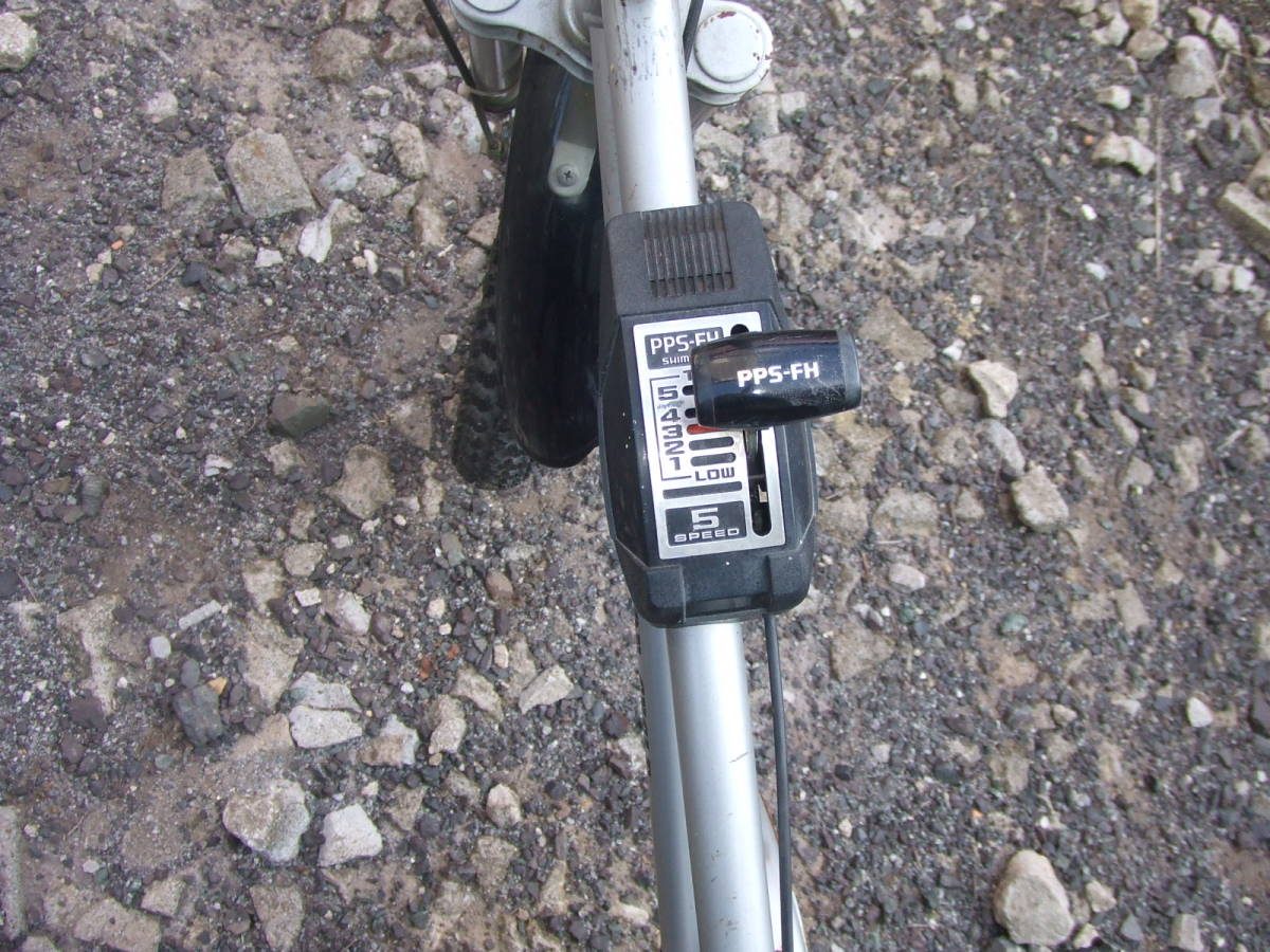 希少 OIdビンテージ モーターバイク 20インチ ギア5速 シルバー_画像2