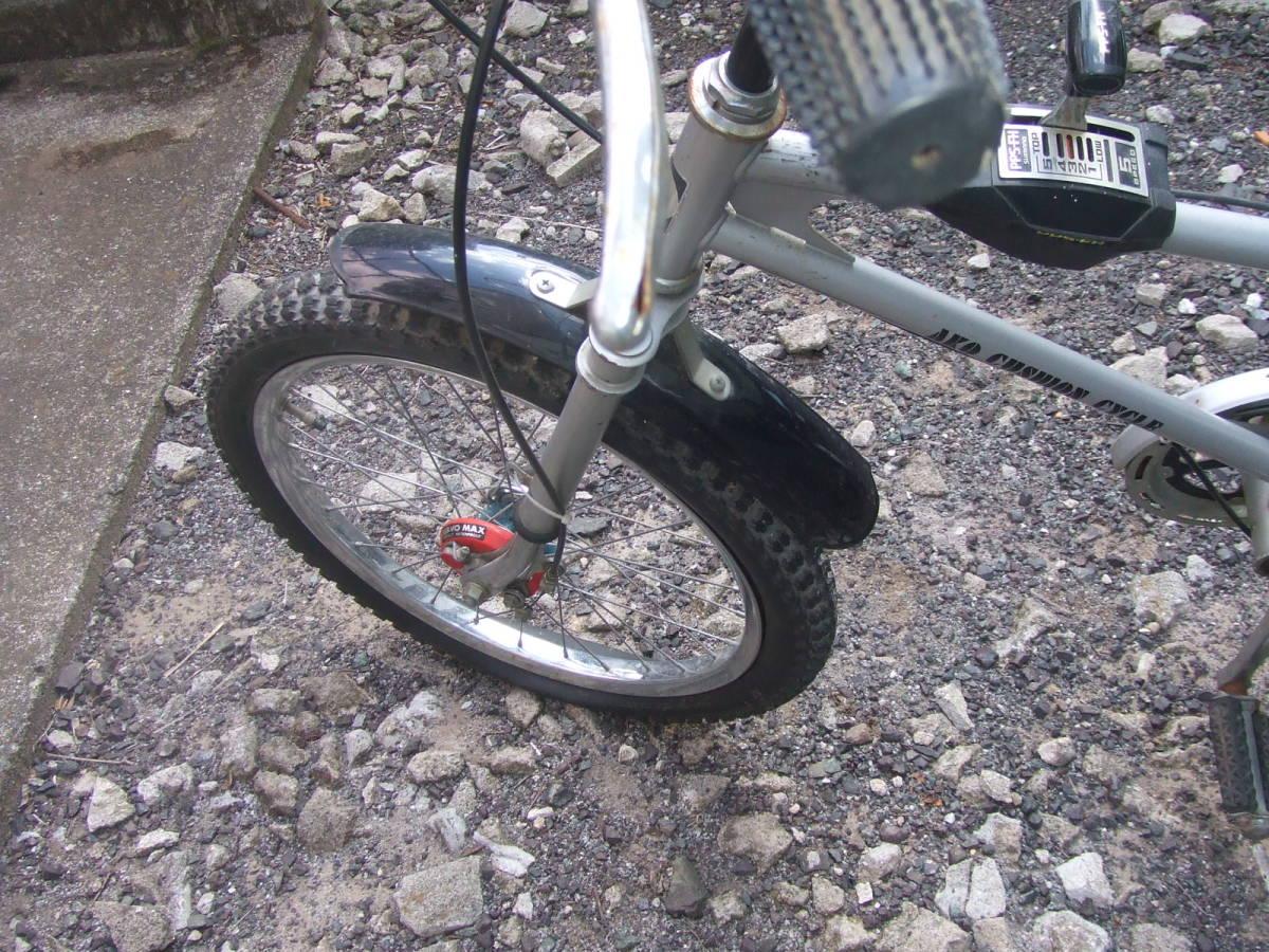 希少 OIdビンテージ モーターバイク 20インチ ギア5速 シルバー_画像4