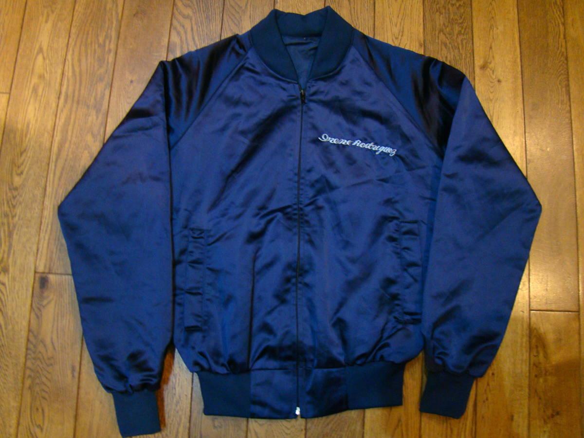 美品 80s vintage Souvenir korean jacket Mサイズ ブルー サテン コリアン ジャケット コリジャン スカジャン_画像2