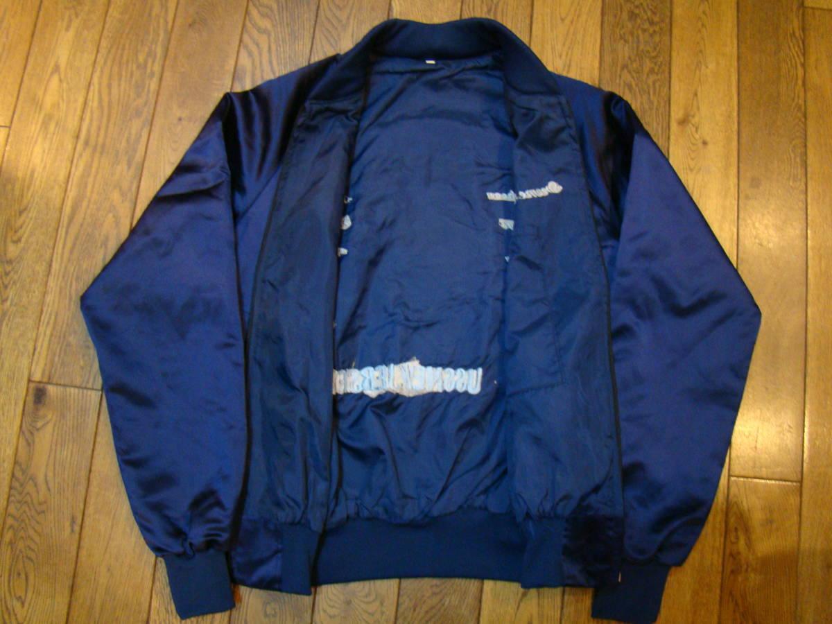 美品 80s vintage Souvenir korean jacket Mサイズ ブルー サテン コリアン ジャケット コリジャン スカジャン_画像3