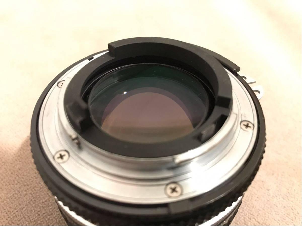 1円~最落なし NIKON ニコン Ai NIKKOR 50mm f1.4 単焦点レンズ フィルムカメラ フード付 美品_画像4