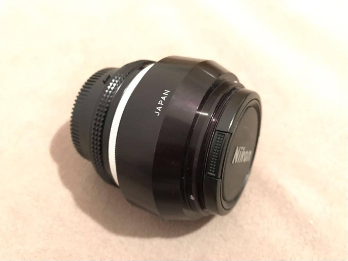1円~最落なし NIKON ニコン Ai NIKKOR 50mm f1.4 単焦点レンズ フィルムカメラ フード付 美品_画像5