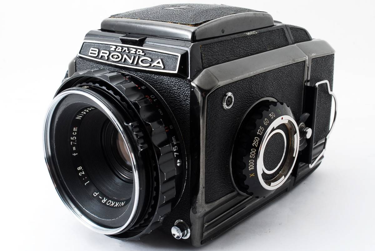 ☆格安☆ZENZA BRONICA S2 NIKKOR-P 75mm F2.8 ブロニカ 中判カメラ フィルム #711_画像1