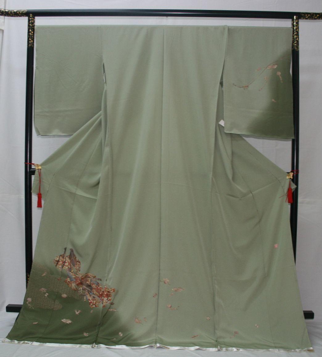 ◆高級手縫い仕立付◆ 横塚先生◆汕頭手刺繍◆特別訪問着1_画像1
