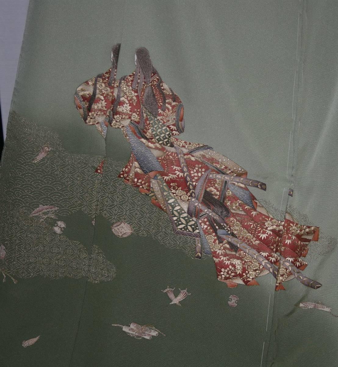 ◆高級手縫い仕立付◆ 横塚先生◆汕頭手刺繍◆特別訪問着1_画像3