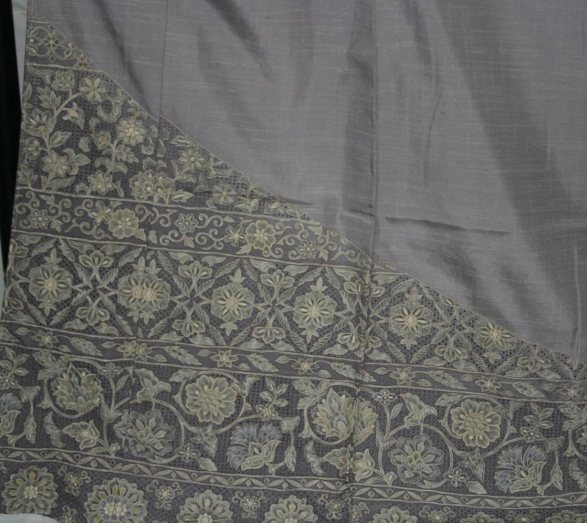 ◆高級手縫い仕立付◆ 横塚先生謹製◆三眠蚕◆特別訪問着_画像3