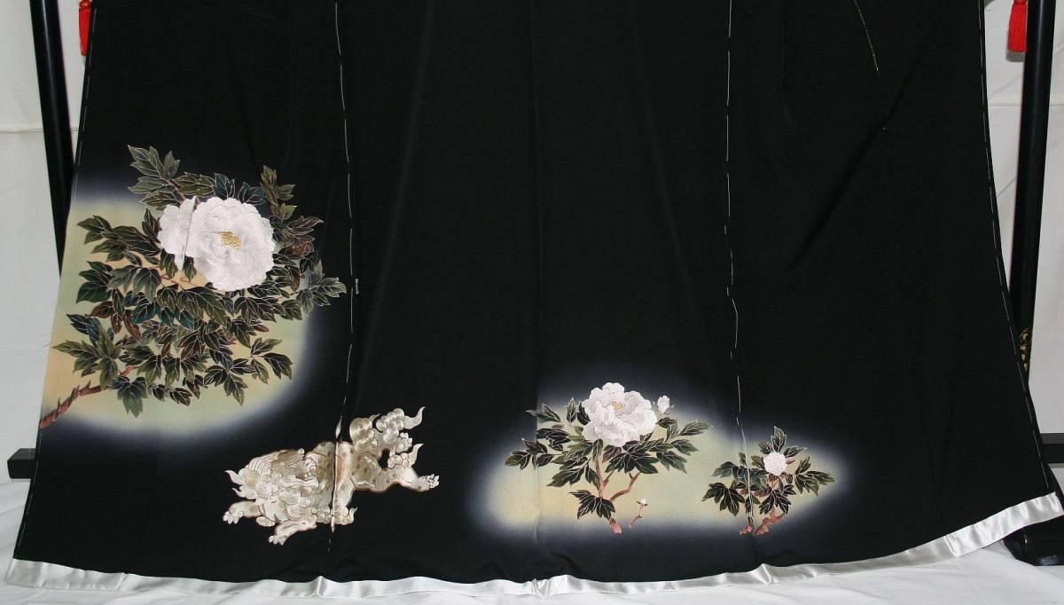 ◆高級手縫い仕立付◆弊社工房オリジナル◆手刺繍◆特別黒留袖◆1_画像2