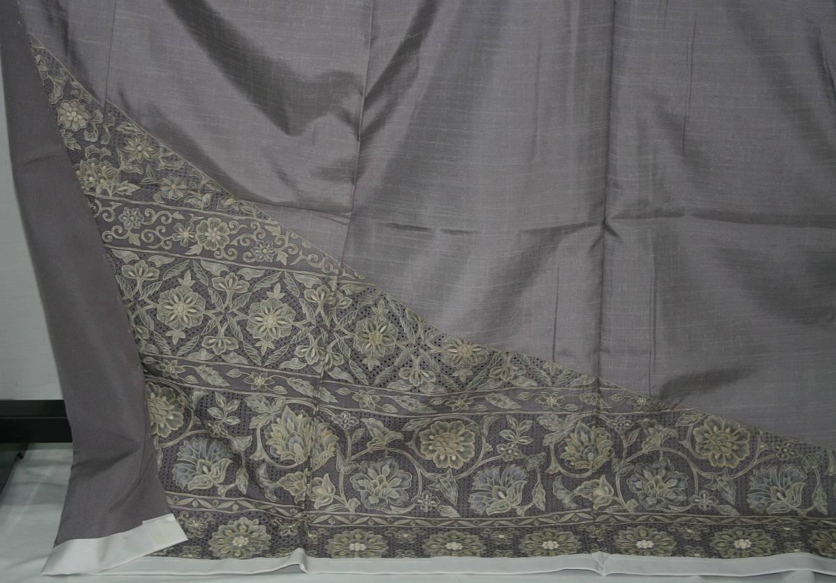 ◆高級手縫い仕立付◆ 横塚先生謹製◆三眠蚕◆特別訪問着_画像4