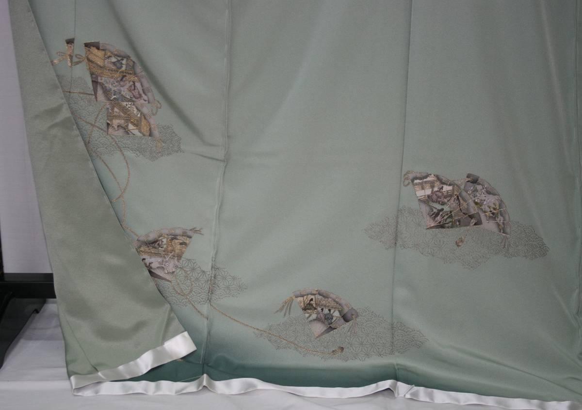 ◆高級手縫い仕立付◆ 横塚先生◆汕頭手刺繍◆特別訪問着_画像4