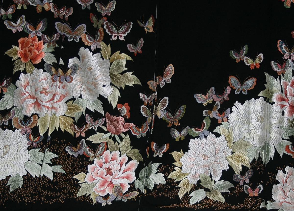 ◆高級手縫い仕立付◆弊社工房オリジナル◆手刺繍◆特別黒留袖◆_画像4