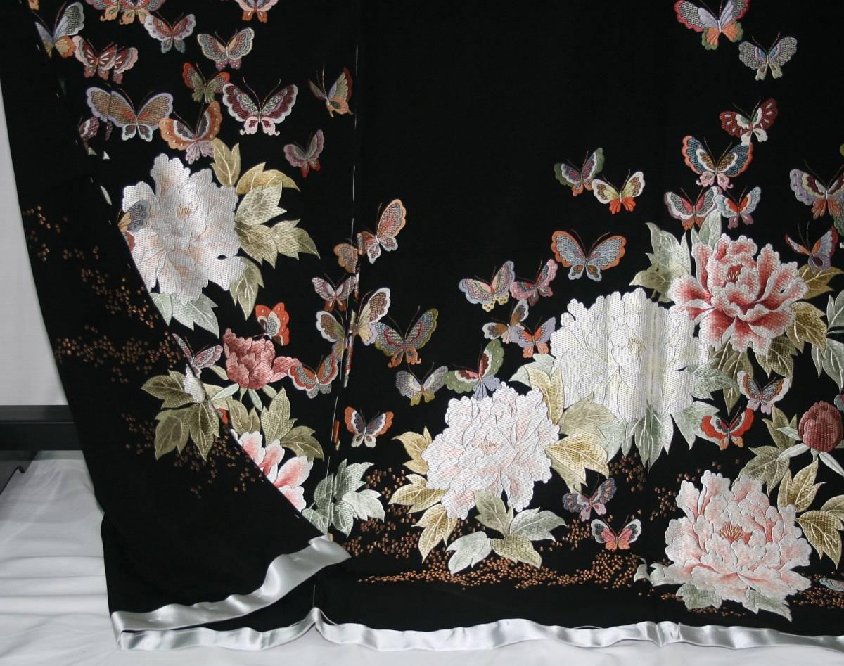 ◆高級手縫い仕立付◆弊社工房オリジナル◆手刺繍◆特別黒留袖◆_画像5
