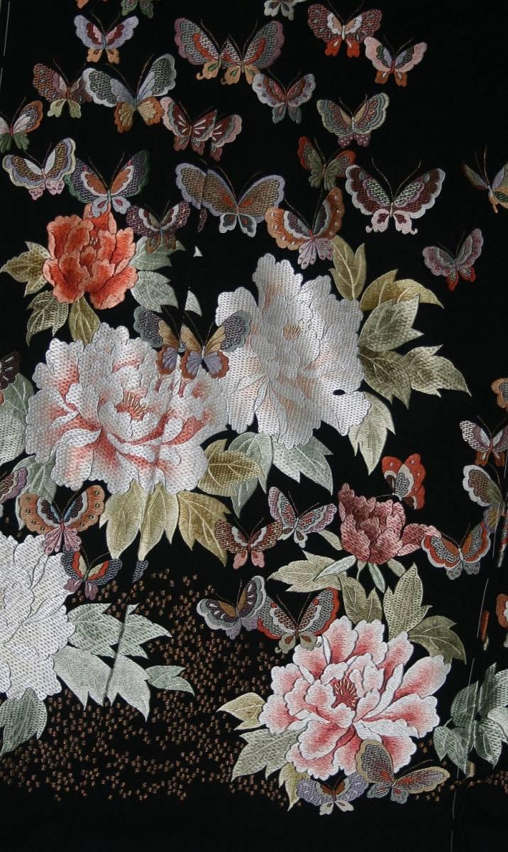 ◆高級手縫い仕立付◆弊社工房オリジナル◆手刺繍◆特別黒留袖◆_画像3